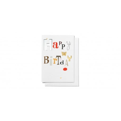 Greeting card, large: Happy birthday - vitra - Alexander Girard - Gifts - Furniture by Designcollectors
