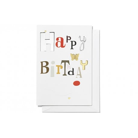 Greeting card, large: Happy birthday - Furniture by Designcollectors