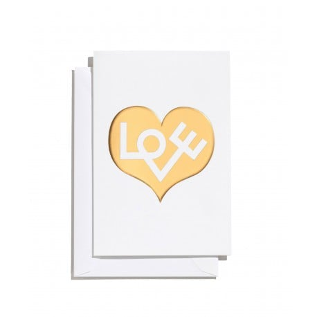 greeting card: Love Heart Gold (S) - Vitra - Alexander Girard - Accessories - Furniture by Designcollectors