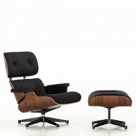White Lounge Chair & Ottoman - Vitra - Charles & Ray Eames - Stoelen - Furniture by Designcollectors