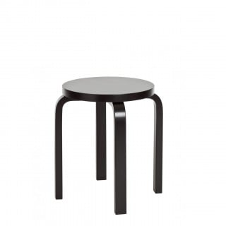 Stool E60 Kruk 4 poten Wit of zwart gelakt