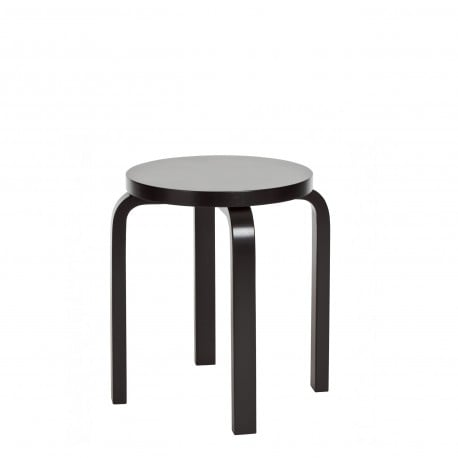 E60 Stool 4 Legs White or Black Lacquered - Artek - Alvar Aalto - Stools & Benches - Furniture by Designcollectors