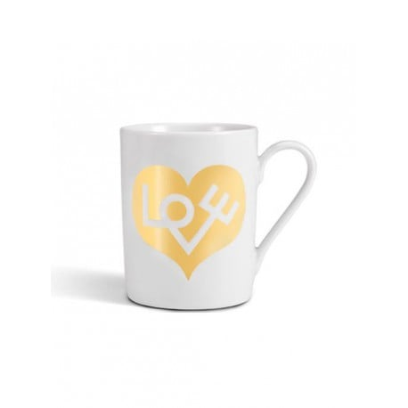 Coffee Mug Love Heart: Gold - vitra - Alexander Girard - Back to school - Furniture by Designcollectors