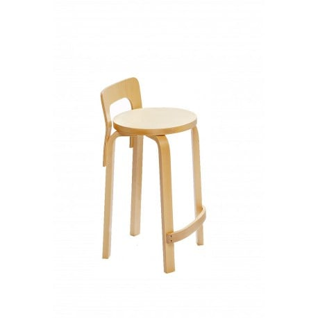 K65 High Chair Natural Lacquered - Artek - Alvar Aalto - Furniture by Designcollectors