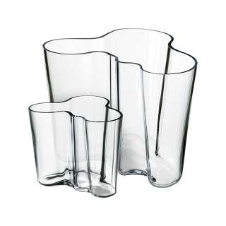Alvar Aalto Collection Vase 160 mm + 95 mm Clear