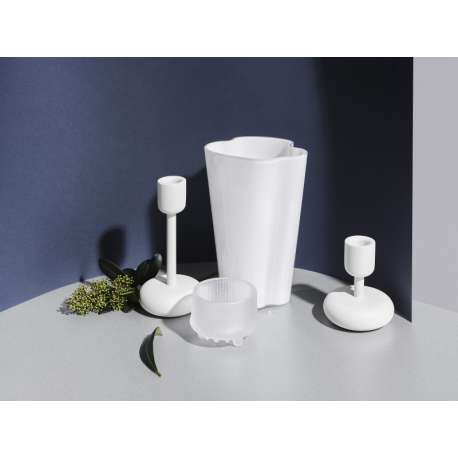 Alvar Aalto Collection Vase 220 mm White - Iittala -  - Home Stories For Winter - Furniture by Designcollectors