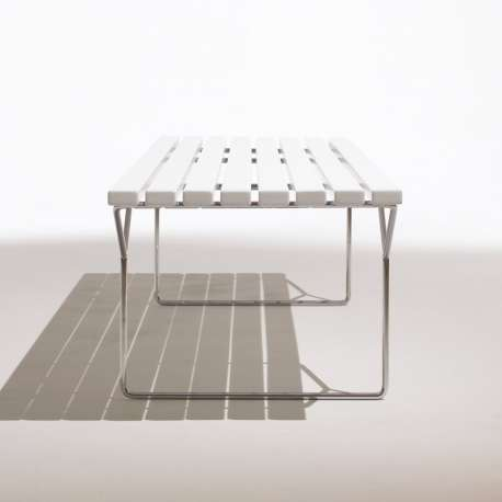 Bertoia Bench Bank Acrylic Stone Wit - Knoll - Harry Bertoia - Zitbanken en krukjes - Furniture by Designcollectors