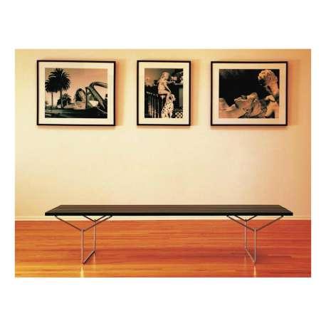 Bertoia Bench with teak slats - Knoll - Harry Bertoia - Outdoor Dining - Furniture by Designcollectors