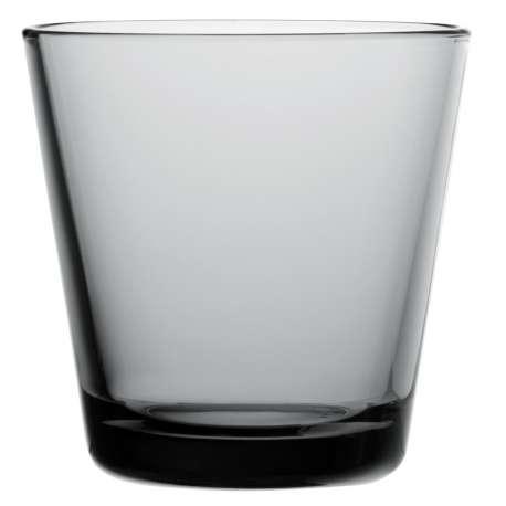 Kartio Glass 21cl grey - 2 pcs - Iittala - Kaj Franck - Accessories - Furniture by Designcollectors