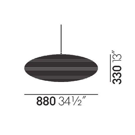 dimensions Akari 15A Ceiling Lamp - vitra - Isamu Noguchi -  - Furniture by Designcollectors