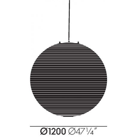 dimensions Akari 120A Ceiling Lamp - vitra - Isamu Noguchi - Lighting - Furniture by Designcollectors