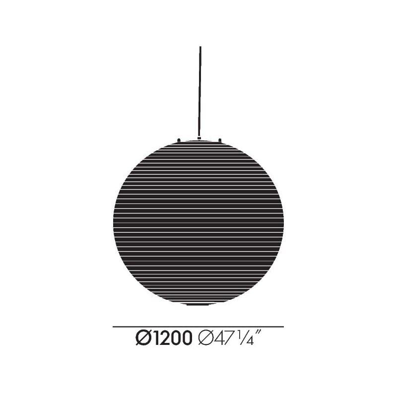 afmetingen Akari 120A Hanglamp - vitra - Isamu Noguchi - Home - Furniture by Designcollectors
