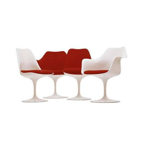 Tulip Chair white shell and base with swivel - Knoll - Eero Saarinen - Chairs - Furniture by Designcollectors