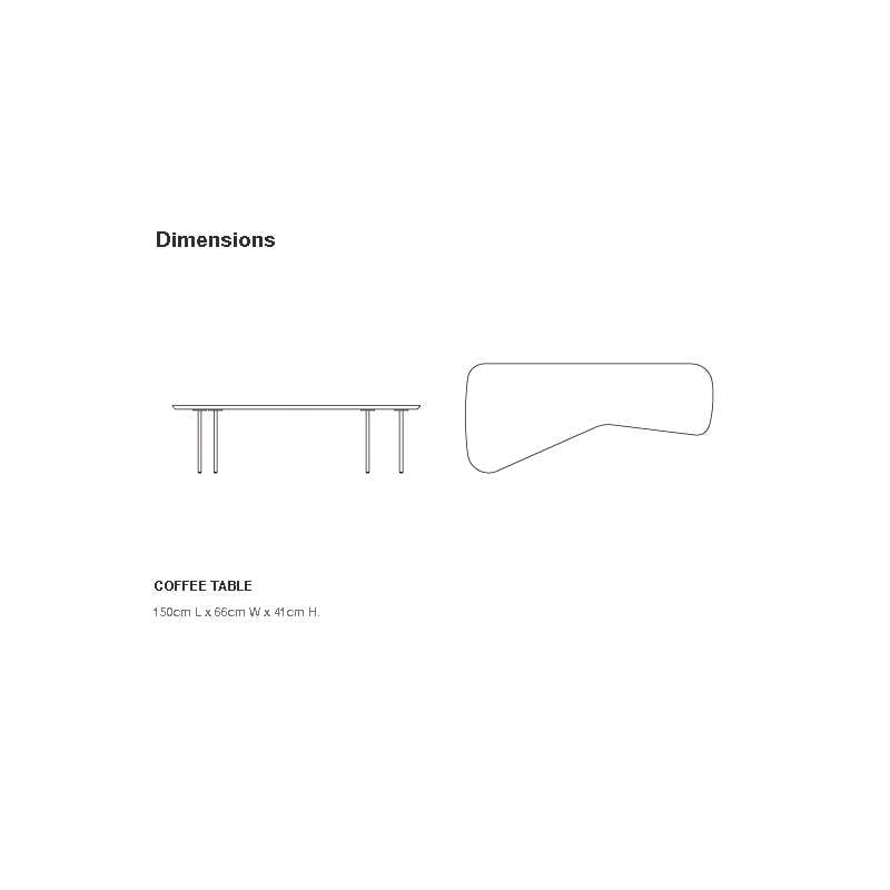 afmetingen Girard Coffee table Salontafel - Knoll - Alexander Girard - Tafels - Furniture by Designcollectors