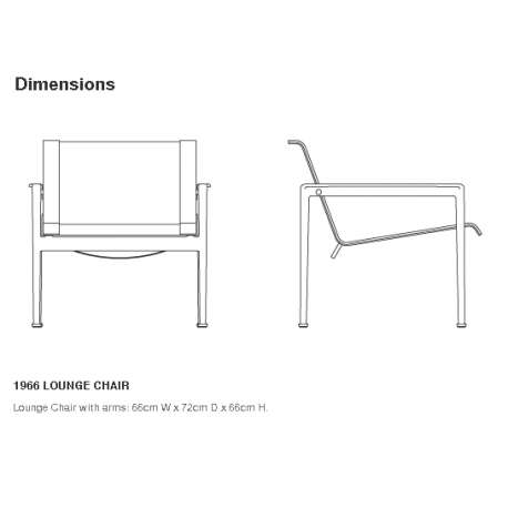 dimensions Schultz Lounge Chair with arms - Knoll - Richard Schultz - Chairs - Furniture by Designcollectors