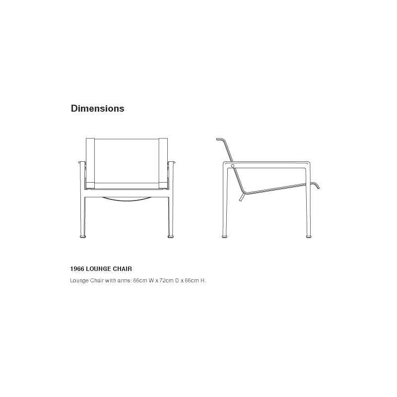 afmetingen Schultz Lounge Chair Armstoel - Knoll - Richard Schultz - Stoelen - Furniture by Designcollectors
