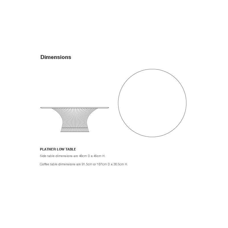 dimensions Platner Side table - Knoll - Warren Platner - Tables - Furniture by Designcollectors