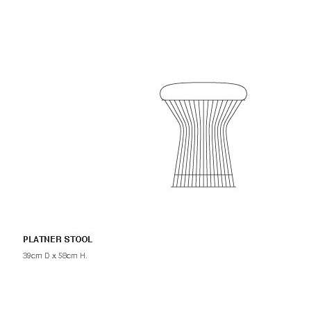 dimensions Platner Stool - Knoll - Warren Platner - Chairs - Furniture by Designcollectors