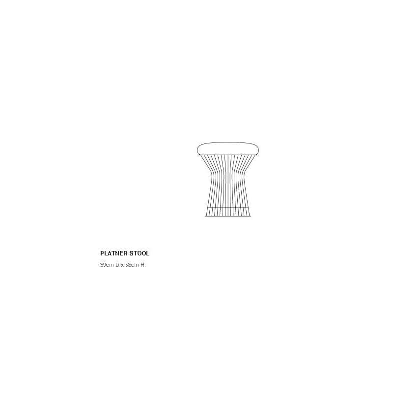 afmetingen Platner Stool Kruk - Knoll - Warren Platner - Stoelen - Furniture by Designcollectors