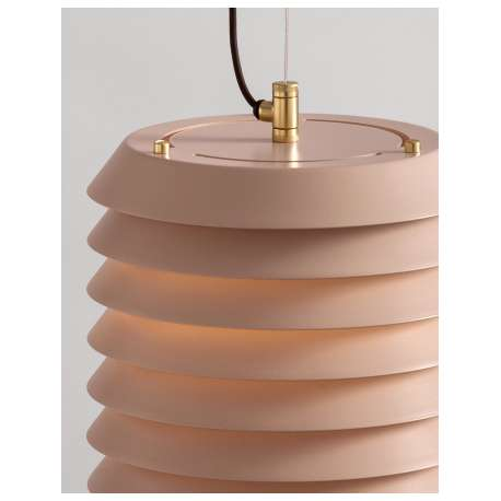 Maija 15 Nude Rose Pendant Lamp - Santa & Cole - Ilmari Tapiovaara -  - Furniture by Designcollectors
