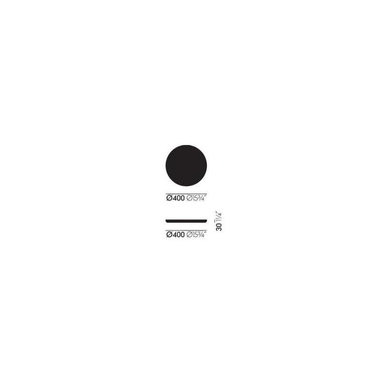 dimensions Trays Plateaux Ensemble de 3 - rouge - vitra - Jasper Morrison - Accessoires - Furniture by Designcollectors