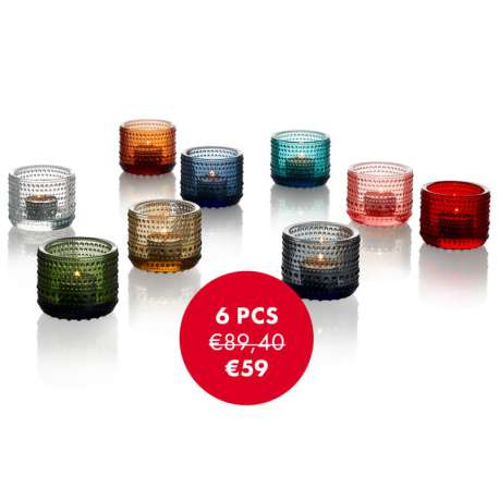 Kastehelmi votive: PROMO on 6 pcs! - Iittala - Oiva Toikka - Kitchen - Furniture by Designcollectors