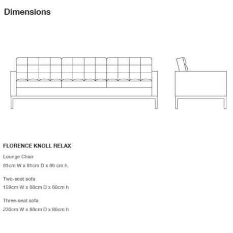 dimensions Florence Knoll Relax: Lounge chair - Knoll - Florence Knoll - Home - Furniture by Designcollectors