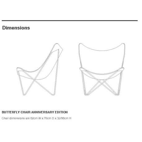 dimensions Butterfly Chair Anniversary Edition - Knoll -  - Chairs - Furniture by Designcollectors