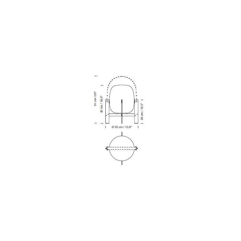 dimensions Cesta Metalica - Santa & Cole - Miguel Milá - Home - Furniture by Designcollectors