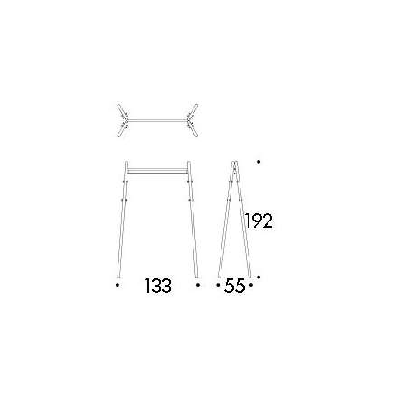 dimensions Kiila coat rack - artek -  - Storage & Shelves - Furniture by Designcollectors