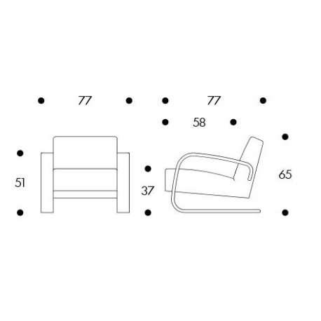 dimensions Armchair 400