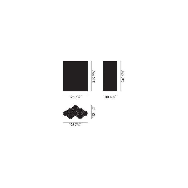 afmetingen Vaas Nuage Medium - vitra - Ronan and Erwan Bouroullec - Home - Furniture by Designcollectors