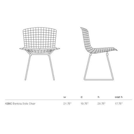 Bertoia Side Chair unupholstered - Knoll - Harry Bertoia - Chairs - Furniture by Designcollectors