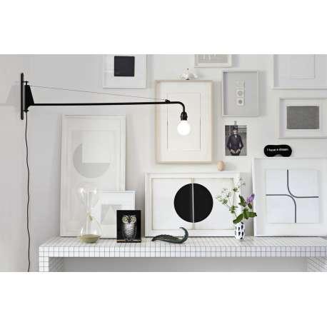 Petite Potence Applique Noir profond - vitra - Jean Prouvé - Accueil - Furniture by Designcollectors