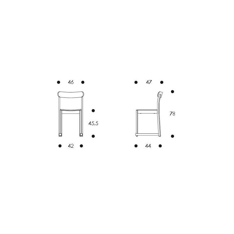 dimensions Atelier Chair - artek - TAF Studio -  - Furniture by Designcollectors