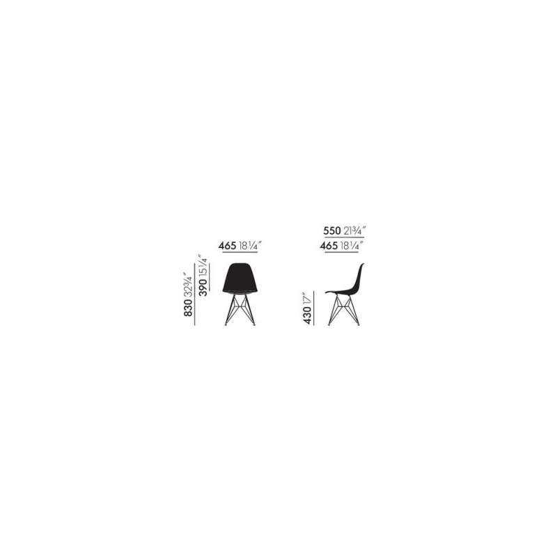dimensions Eames Plastic Chair DSR - vitra - Charles & Ray Eames - Home - Furniture by Designcollectors