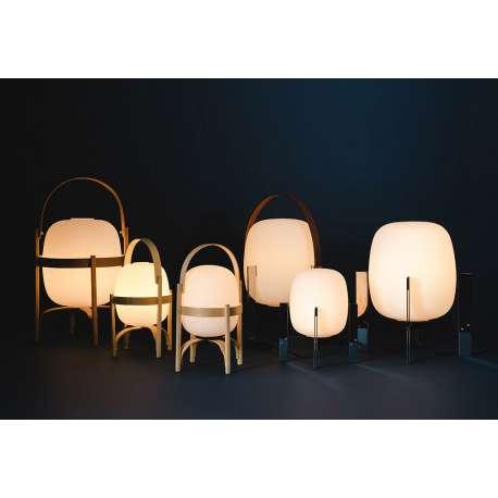 Cesta Metalica with leather handle - Santa & Cole - Miguel Milá - Home - Furniture by Designcollectors