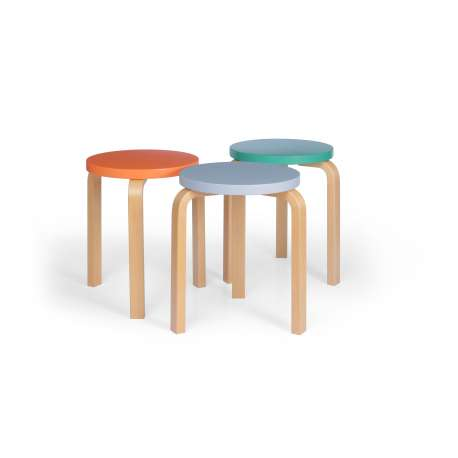 Stool 60 / E60: Special Edition - Set of 3 colours curated by Sofie D'Hoore - Artek - Alvar Aalto - Furniture by Designcollectors