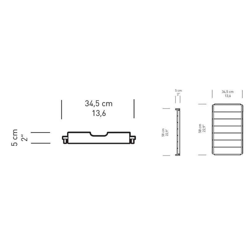 dimensions BM1069 Tray - Carl Hansen & Son - Børge Mogensen - Home - Furniture by Designcollectors