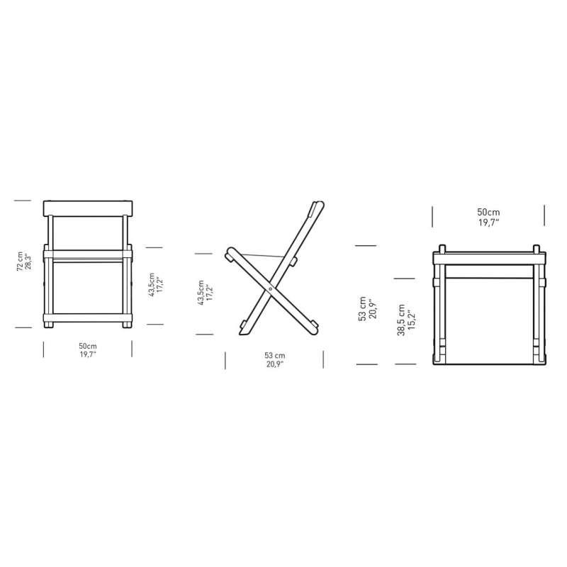 afmetingen BM4570 Stoel - Carl Hansen & Son - Børge Mogensen - Home - Furniture by Designcollectors