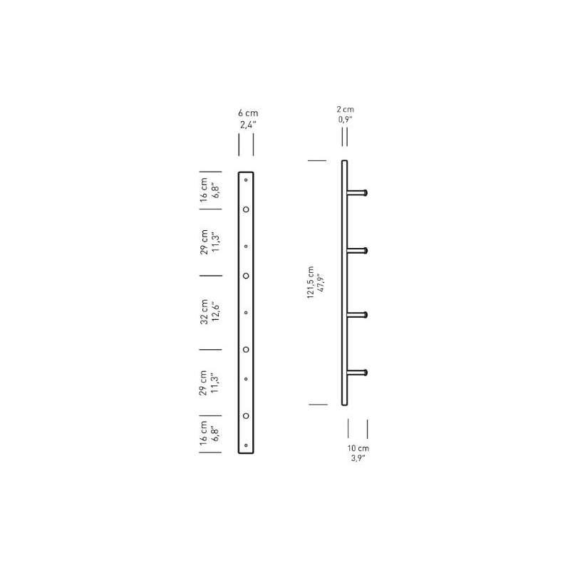 dimensions BM5270L Wall mount large - Carl Hansen & Son - Børge Mogensen - Home - Furniture by Designcollectors