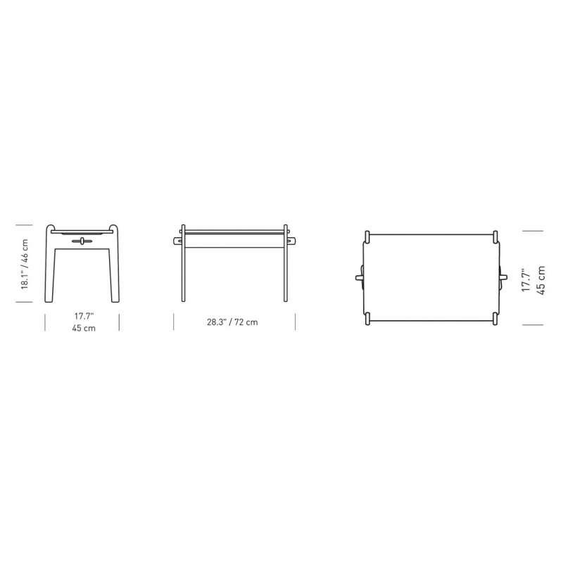 dimensions CH411 Peters Table pour enfants - Carl Hansen & Son - Hans Wegner - Accueil - Furniture by Designcollectors