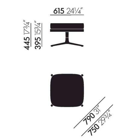 Grand Relax & Ottoman - vitra - Antonio Citterio - Accueil - Furniture by Designcollectors