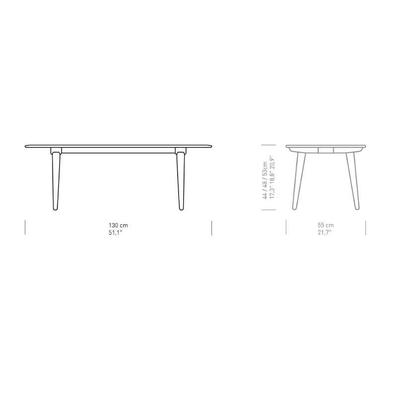 dimensions CH011 Table Basse - Carl Hansen & Son - Hans Wegner - Accueil - Furniture by Designcollectors