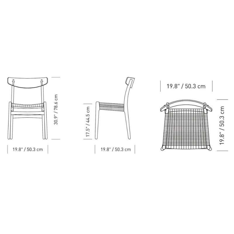 dimensions CH23 Dining chair - Carl Hansen & Son - Hans Wegner - Home - Furniture by Designcollectors