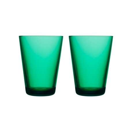 Kartio Tumbler 40 cl Emerald: 2pcs - Iittala - Kaj Franck - Home - Furniture by Designcollectors