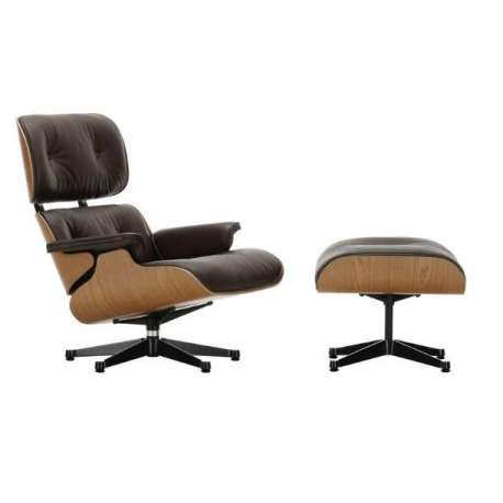 Lounge Chair & Ottoman Leather Premium F - Vitra - Charles & Ray Eames - Furniture by Designcollectors