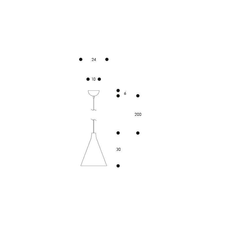 "afmetingen Pendant Light TW002 ""Triennale"" - artek - Tapio Wirkkala - Home - Furniture by Designcollectors"