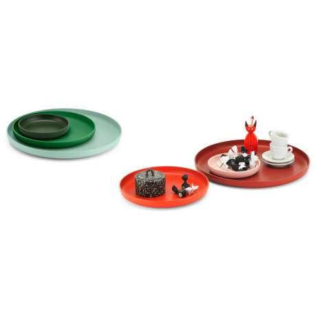 Set of 3 Trays - Green - vitra - Jasper Morrison - Accessories - Furniture by Designcollectors