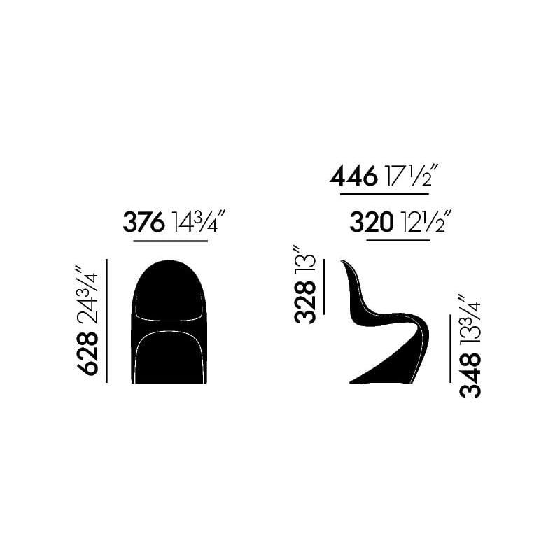 afmetingen Vitra Panton Junior Kinderstoel - vitra - Verner Panton - Home - Furniture by Designcollectors